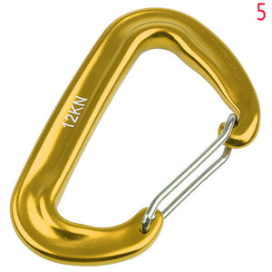 Aluminium Spring Clip Carabiner Hook For Climbing Quickdraw Equipment For 12KN