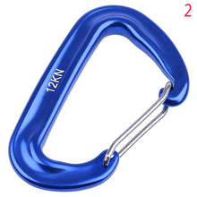 Load image into Gallery viewer, Aluminium Spring Clip Carabiner Hook For Climbing Quickdraw Equipment For 12KN