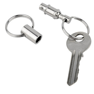 1pc Quick Release Pull Apart Removable Keyring Detachable Keychain Portable