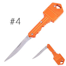 Load image into Gallery viewer, Key Shaped Stainless Steel Blade Utility Keychain Pocket Portable Folding Knife