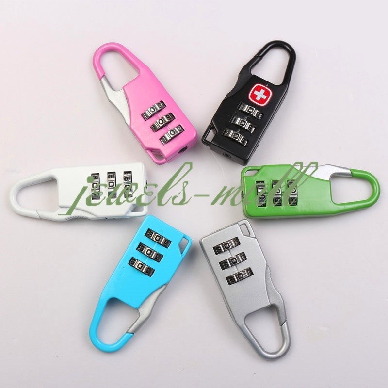 Cute Portable 1 PC Mini 3 Digit Combination Security Safe Travel Luggage Code Lock Padlock