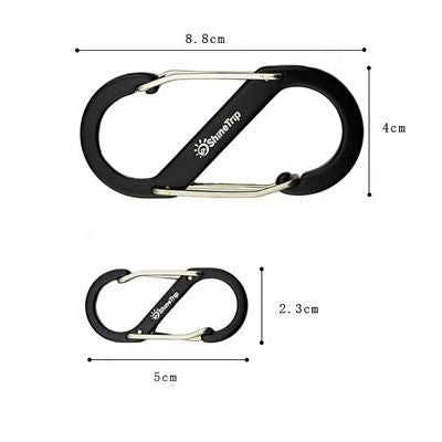 1PCS S Type Buckle S Biner Double Gated Carabiner Key Ring Clip Hook Outdoor
