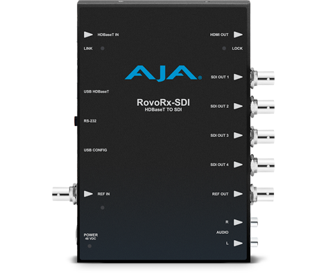 AJA UltraHD/HD HDBaseT Receiver to 6G/3G-SDI and HDMI