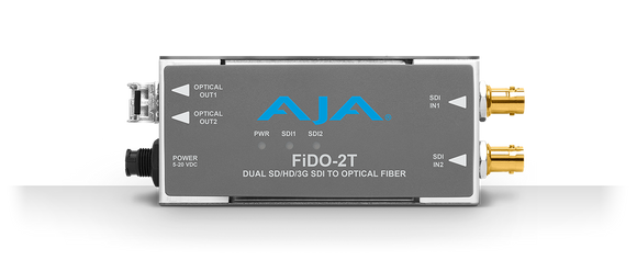 AJA 2-Channel 3G-SDI to Single Mode LC Fiber Transmitter (CDWM)*