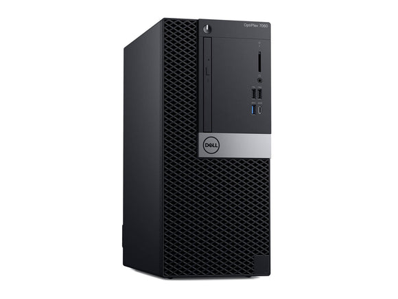 Dell OptiPlex 7060 MT: Intel Core i5-8500 vPro (4.1GHz 9MB), 4GB (1x4GB) DDR4 2666MHz, 500GB 3.5 Inch(7200RPM), Windows 10 Professional, 3Yr Basic Onsite Service