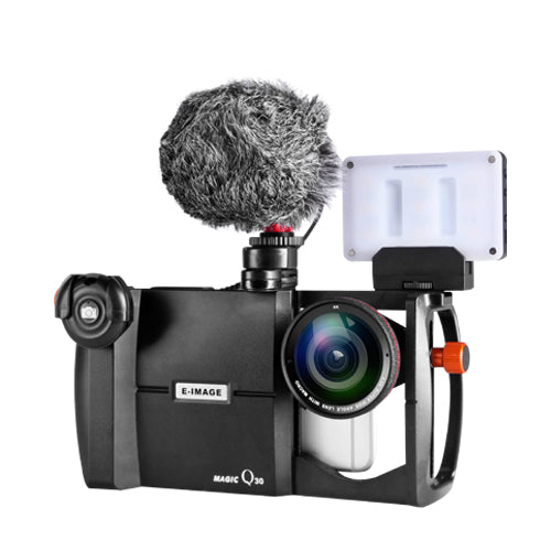 E-Image Q30K MAGIC PHONE CAGE KIT-LUXURY( Including Lens,Bluetooth Shutter, Microphone, Small LED Light)