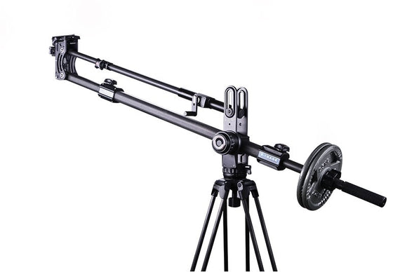 E-Image EJ100LXK-3 Kit 2 Huntsman Damping System Jib Arm (EJ100LX+GA751 Aluminum Tripod+EI7004) ( Include Jib Arm, Long Plate With Bowl Size, Operation Handle. With Counterweight)