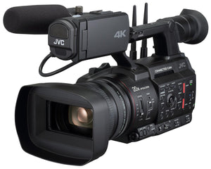 "JVC GY-HC550E 4K/ HD handheld camcorder with 1"" CMOS sensor, with FTP, remote, live streaming and IFB/ IP return video"