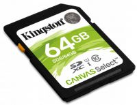 Kingston 64GB SDXC Canvas Select 80R CL10 UHS-I