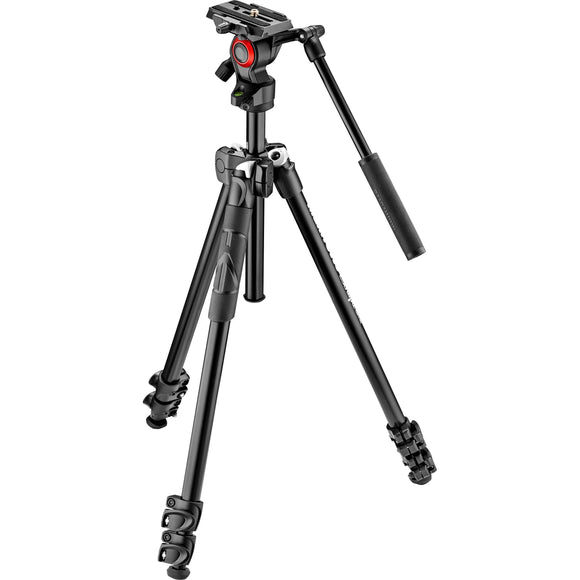 Manfrotto 290 Light Kit Alu 3-Sec Tripod+Befree Live Video Head MK290LTA3-V