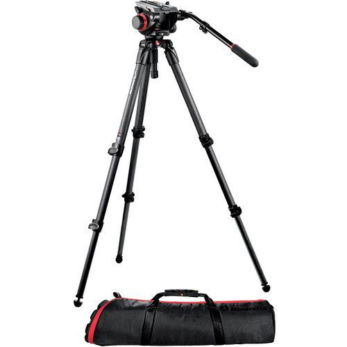 Manfrotto 504HD Head/536/ 100PN Bag TriPod Kit