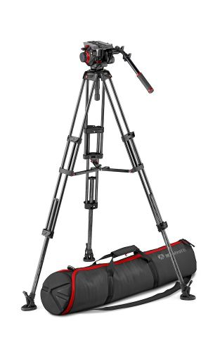 Manfrotto Kit 504HD + CF Twin Leg MS + MBAG100PN MVK504TWINMC