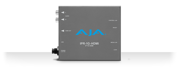 AJA JPEG 2000 IP Video and Audio to HDMI Mini-Converter