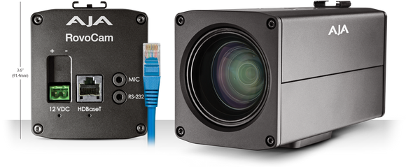 AJA ROVOCAM Integrated UltraHD/HD Camera with HDBaseT (w/ PoH)