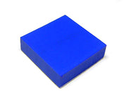 "1"" Square Blue Rubber Pad With Adhesive Backing: 23-6629"