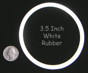 "3-1/2"" White CHAMPION Rubber Ring"