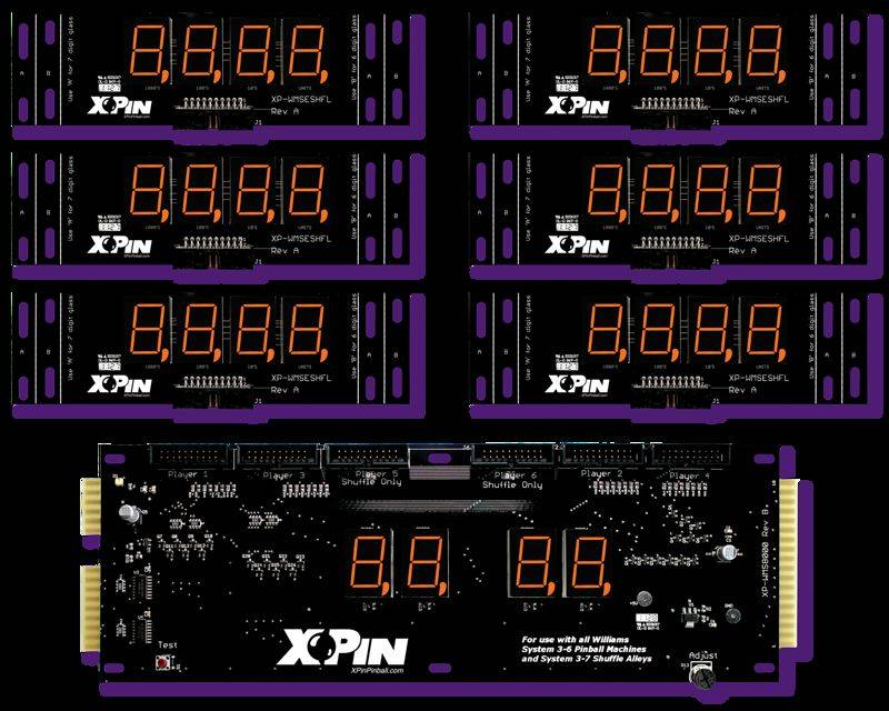 XP-WMS8000-S   Williams 4-Digit Shuffle Display