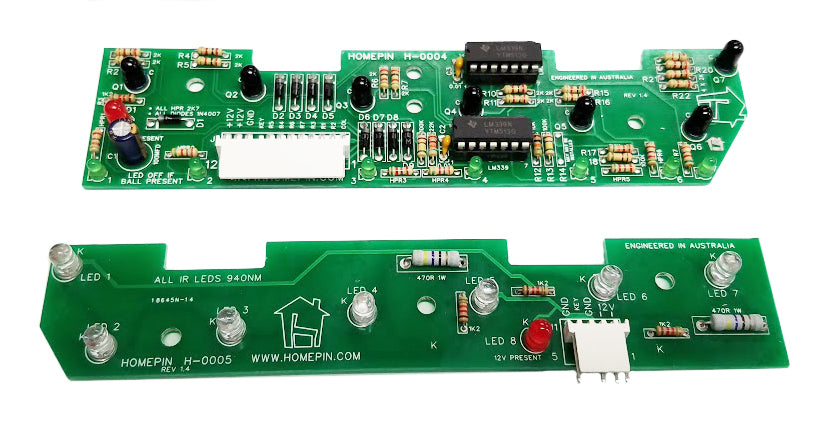 Homepin - 7 Opto Trough Board Set for WMS/Bally Widebody Pinball Machines  A-16926-RX  &  A-16927-TX