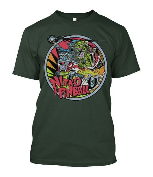 T-Shirt large logo Nitro Pinball designed by Dirty Donny
