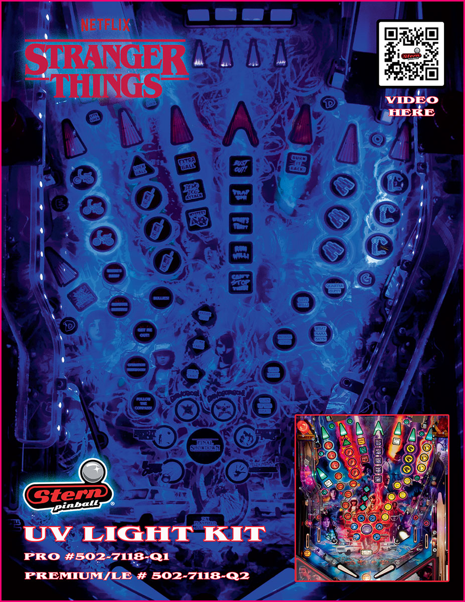 Stranger Things PREM & LE UV Light Kit! - Nitro Pinball Sales