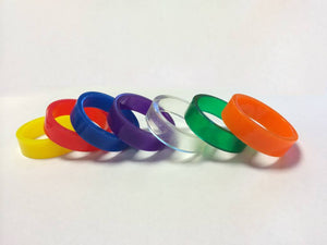 Super-Bands - Narrow 0.375in x 1.5in - ID Ring - Translucent