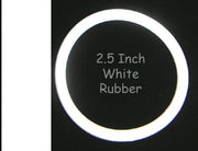 "2-1/2"" White Rubber Ring - Nitro Pinball Sales"