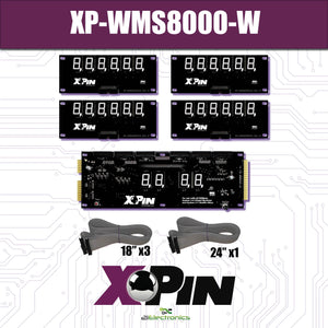 XP-WMS8000-W /  WILLIAMS SYSTEM 3-6 / 6 DIGIT DISPLAY: WHITE (Includes Red, Green & Blue Vinyl Gel)