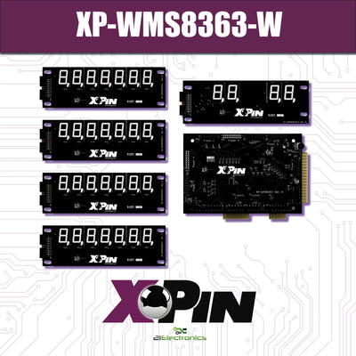XP-WMS8363-W / WILLIAMS SYSTEM 7-9 / 7 DIGIT DISPLAY: WHITE (Includes Red, Green & Blue Vinyl Gel)