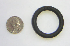 "1-1/4"" Black Rubber Ring"