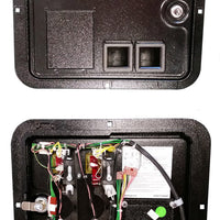 Stern Coin Door For SPIKE System Machines With 4-Button Service Assembly & Wiring Harness - Nitro Pinball Sales