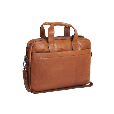 The Chesterfield Leren Laptoptas Cognac Dean