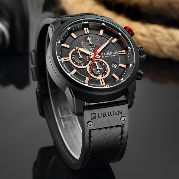 CURREN NIGHTER® - Reloj Ultra liviano con Cronógrafo