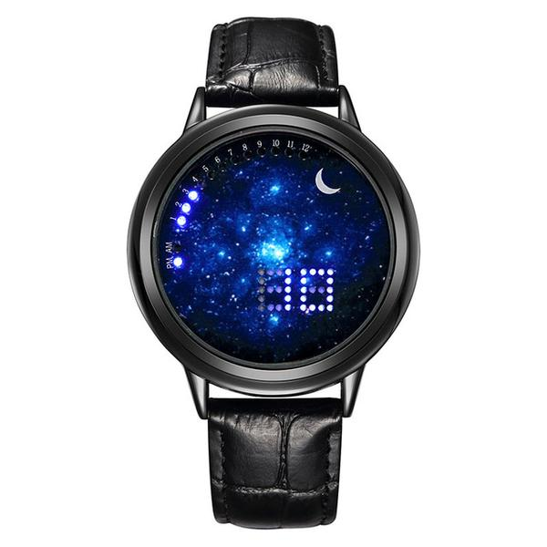 "GEEKTHINK® Reloj ""Galaxy & Moon"" toque digital de lujo"