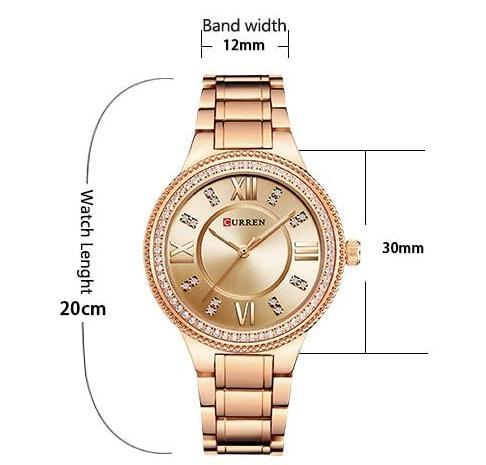 CURREN ROMA® - Reloj Mujer Impermeable