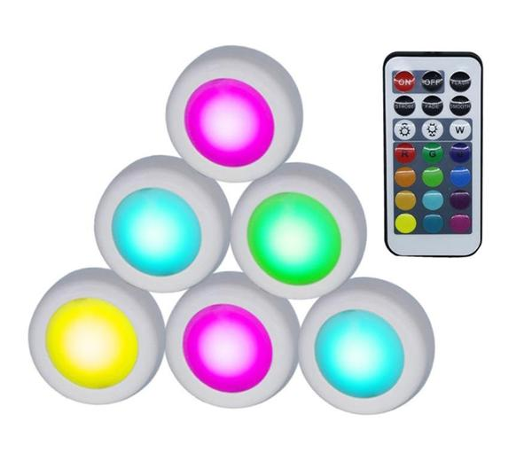Lámparas LED coloradas con control remoto