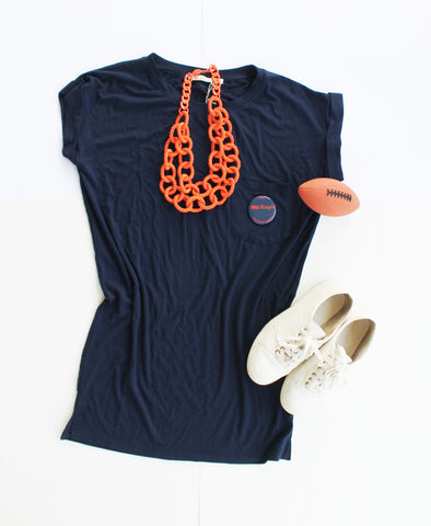 Cute Auburn Pocket Tee Dress