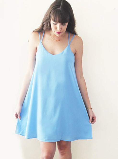 Skies are Blue Slip Dress