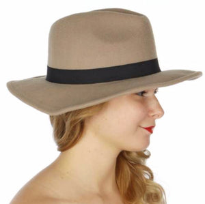 Grey Autumn Panama Hat