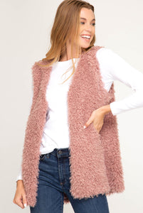 Blush Teddy Vest
