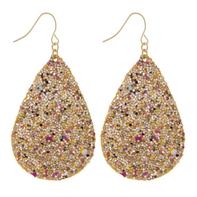 Golden Sparkle Party Earrings