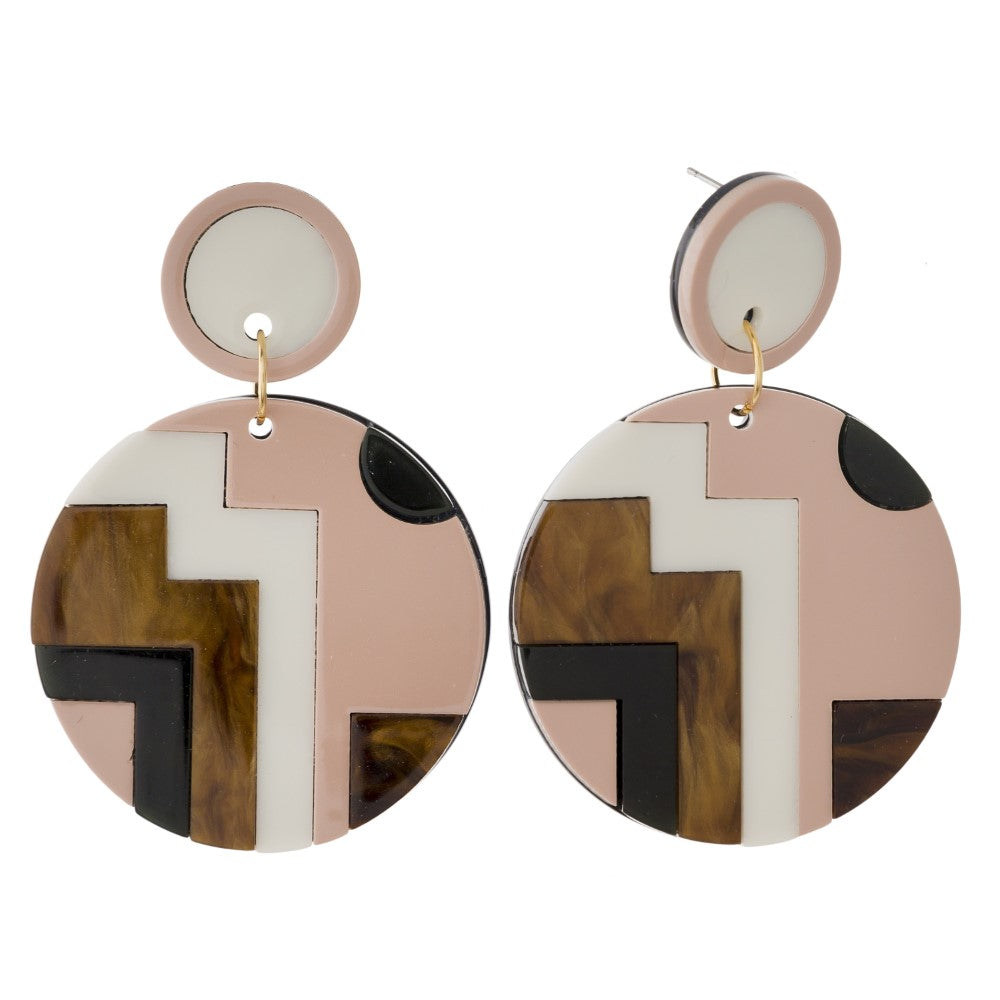 Mod Block Earrings
