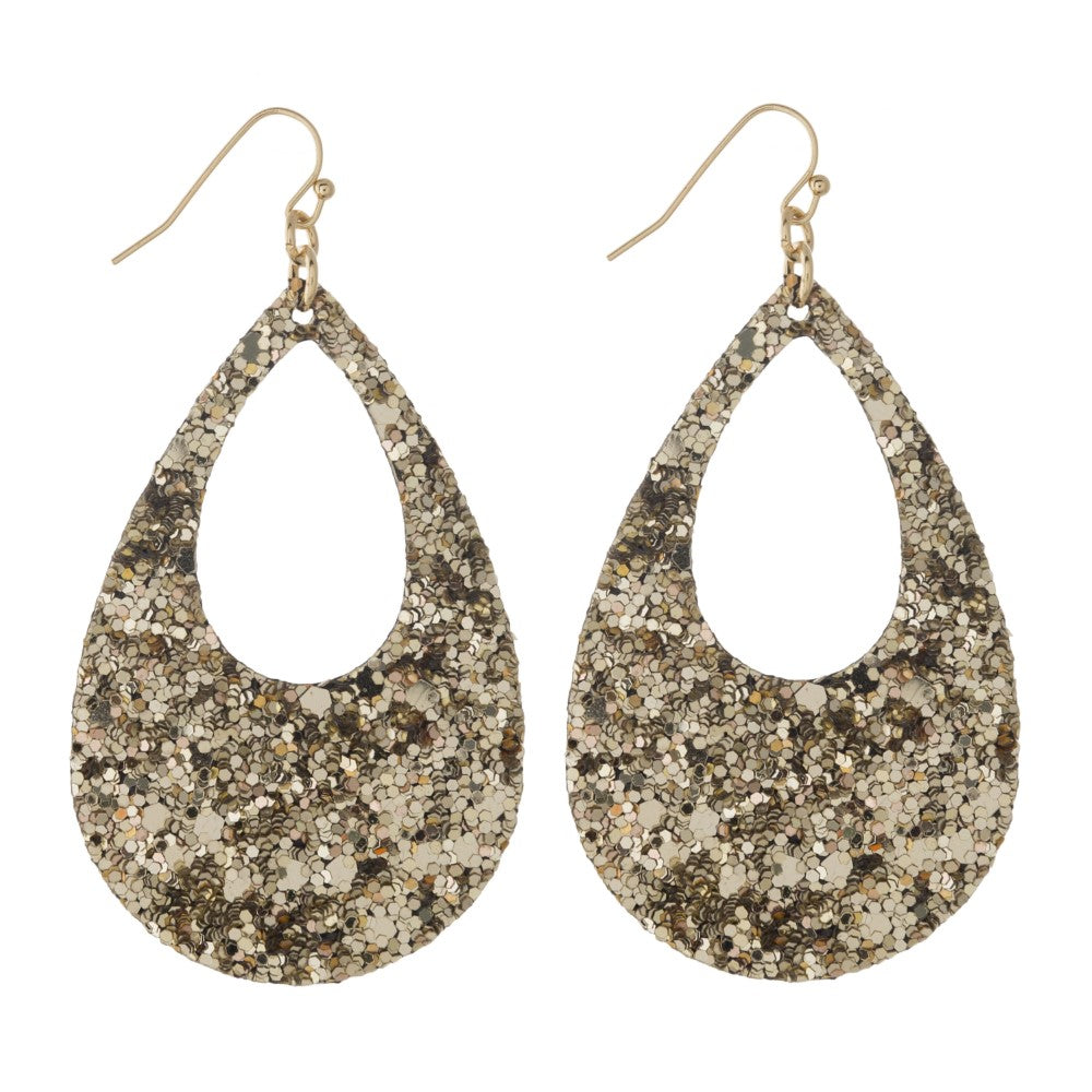Champagne Sparkle Party Earrings