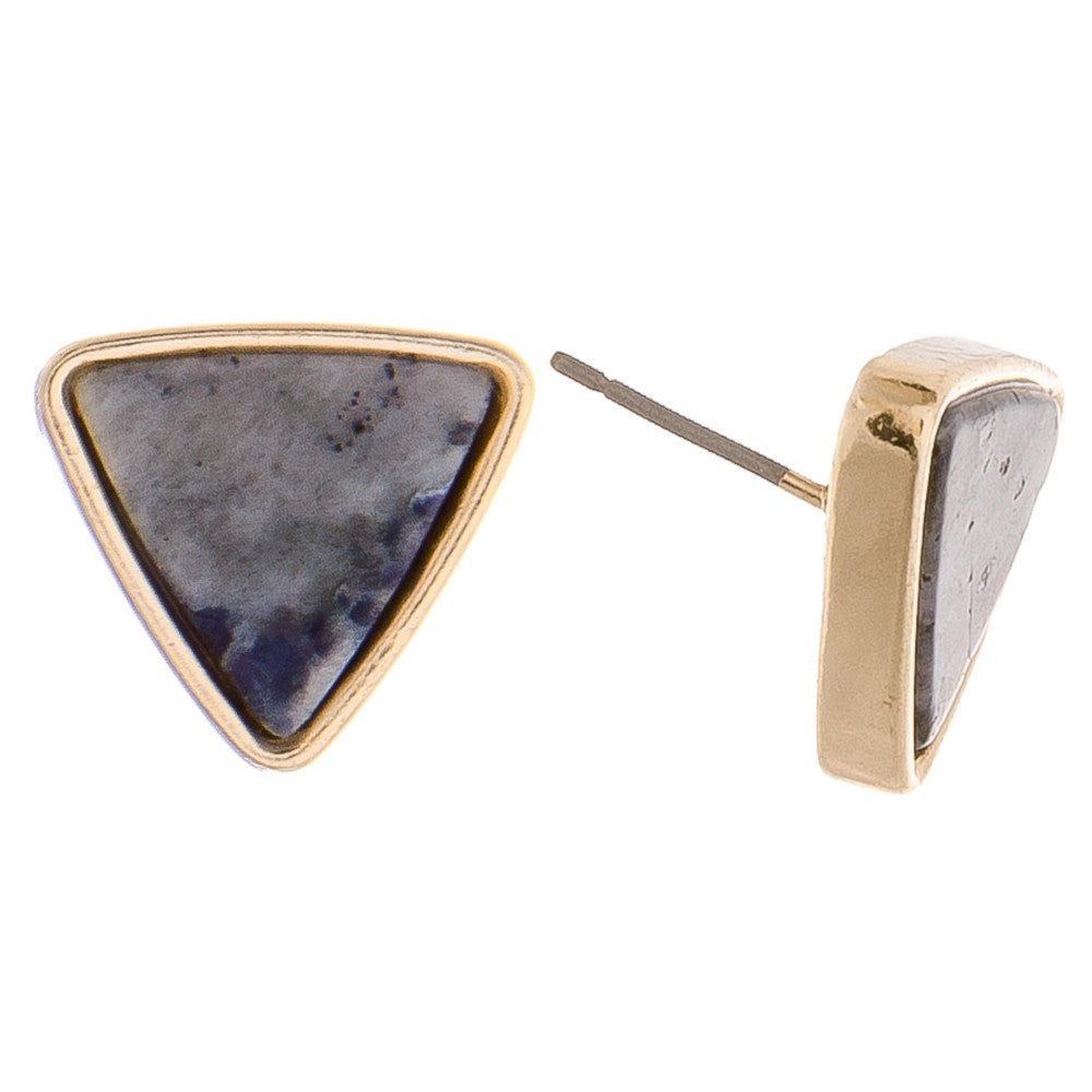 Triangle Gem Earrings