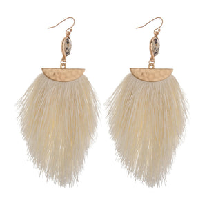 Cream Tassel Earrings