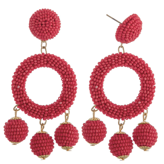 Coral Cha Cha Earrings