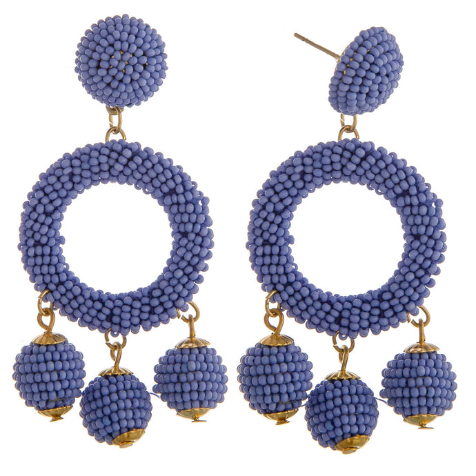 Blue Cha Cha Earrings
