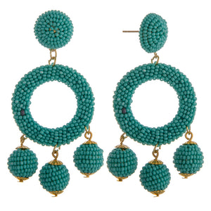 Emerald Cha Cha Earrings