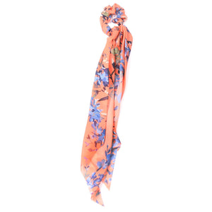 Blush Flower Scrunchie Scarf