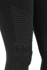 Moto Zipper Jeggings: Black