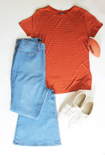Orange and Blue Tee